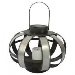 Lanterne solaire Zinc H20cm