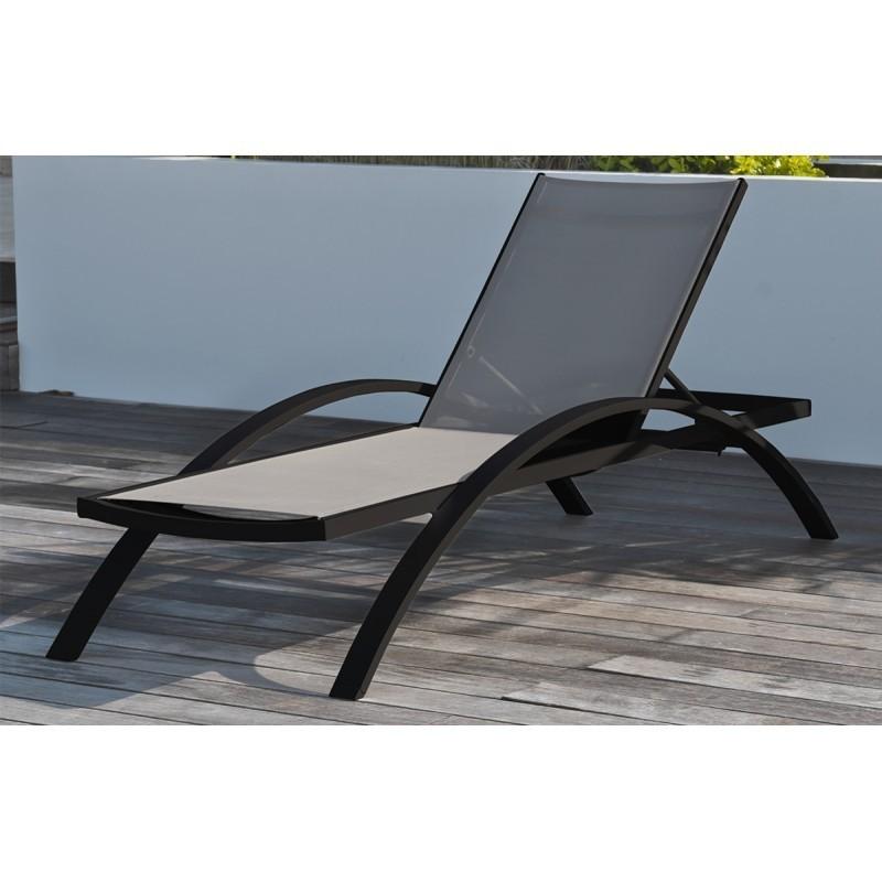 bain de soleil barcelona avec 2 roulettes gris anthracite. Black Bedroom Furniture Sets. Home Design Ideas