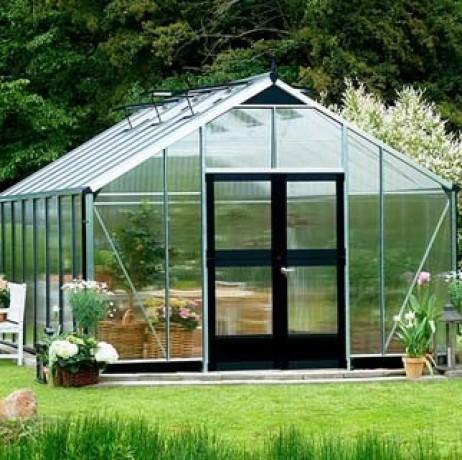 Serre en verre polycarbonate Gardener 21,4m²