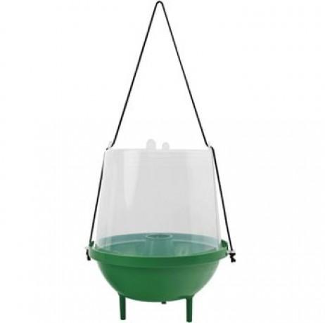 Piège à guêpes. N´ayez plus peur des guêpes, mouches et moustiques! Grâce à ce piège, vous pourrez profiter sereinement de votre terrasse ou balcon durant tout l´été.Le piège à guêpes, mouches et moustiques DECAMP´ est le moyen le plus écologique de neutraliser tous les insectes.