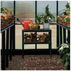 Doubles étagères pour serre de jardin
