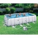 Kit piscine rectangulaire Power Steel Frame - filtre à sable