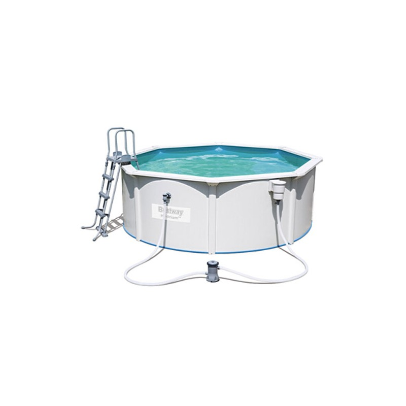 Kit piscine ronde en acier steel wall filtre sable for Piscine ronde acier