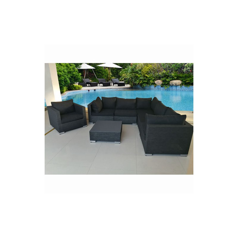 salon de jardin modulable athena 6 personnes. Black Bedroom Furniture Sets. Home Design Ideas