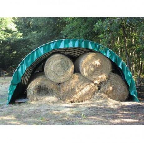 Abri tunnel largeur 5m40 pas à 1m bâche camion 720g/m²