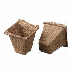 Pots biodégradables carrés pour semis