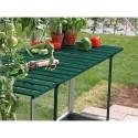 Table rabattable laquée pour serre de jardin