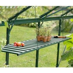 Étagère rabattable pour serre de jardin