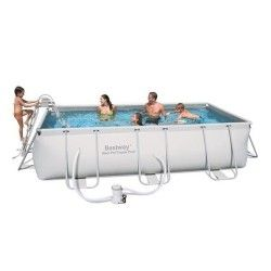 Kit Piscine Rectangulaire Power Steel Frame Pools L 404 x l 201 x H 100cm