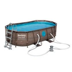 Kit piscine ovale Power Steel Swim Vista Pool L 427 x l 250 x H 100 cm