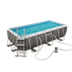 Kit piscine rectangulaire Power Steel Frame Pools L 404 x l 201 x H 100 cm