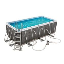 Kit piscine rectangulaire Power Steel Frame Pools L 412 x l 201 x H 122 cm