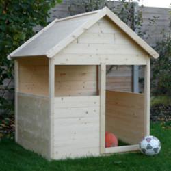 La maisonnette en bois est idéale pour les jeunes enfants. Cette petite cabane de jardin va stimuler l'imagination des enfants et leur faire vivre d'incroyables aventures au quotidien. Parfait pour les loisirs extérieurs et les jeux de plein air, cette maison pour enfant résiste très bien aux intempéries et est facile à installer.